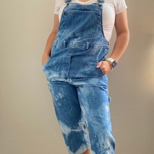 Bleach Dyed overalls Women's small